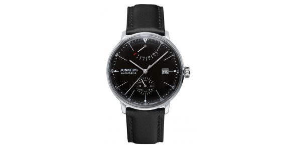 Junkers Bauhaus Automatic Power Reserve Black Dial - 6060-2