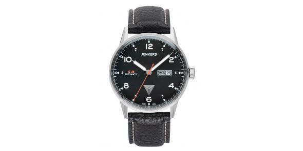 Junkers G38 Automatic Day Date Black Dial - 6966-2