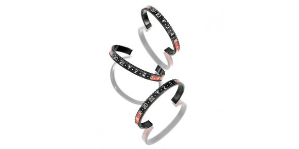Black Series - Black Red Bangle - BLK BLK/RED