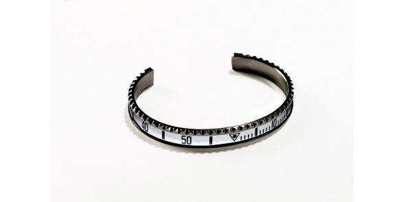 Black Series - White Bangle - BLK WHT