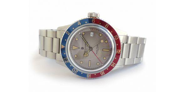 Steinhart Ocean 1 Vintage Dual Time. - T0227