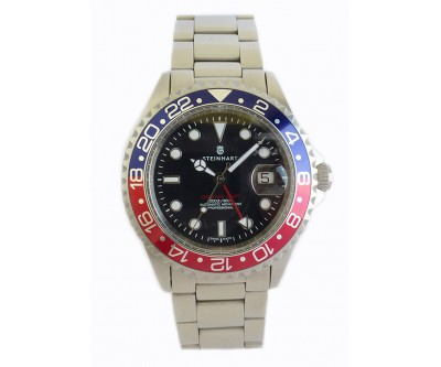 Steinhart GMT Ocean 1 Blue Red Pre Owned - NWW 1287