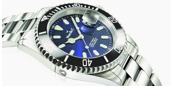 Marcello C Nettuno Divers Wristwatch with Ceramic Bezel - MAT 15