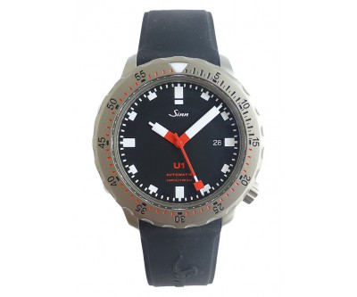 Sinn U1 Automatic Divers Wristwatch on Silicone - pre owned - NWW 1342