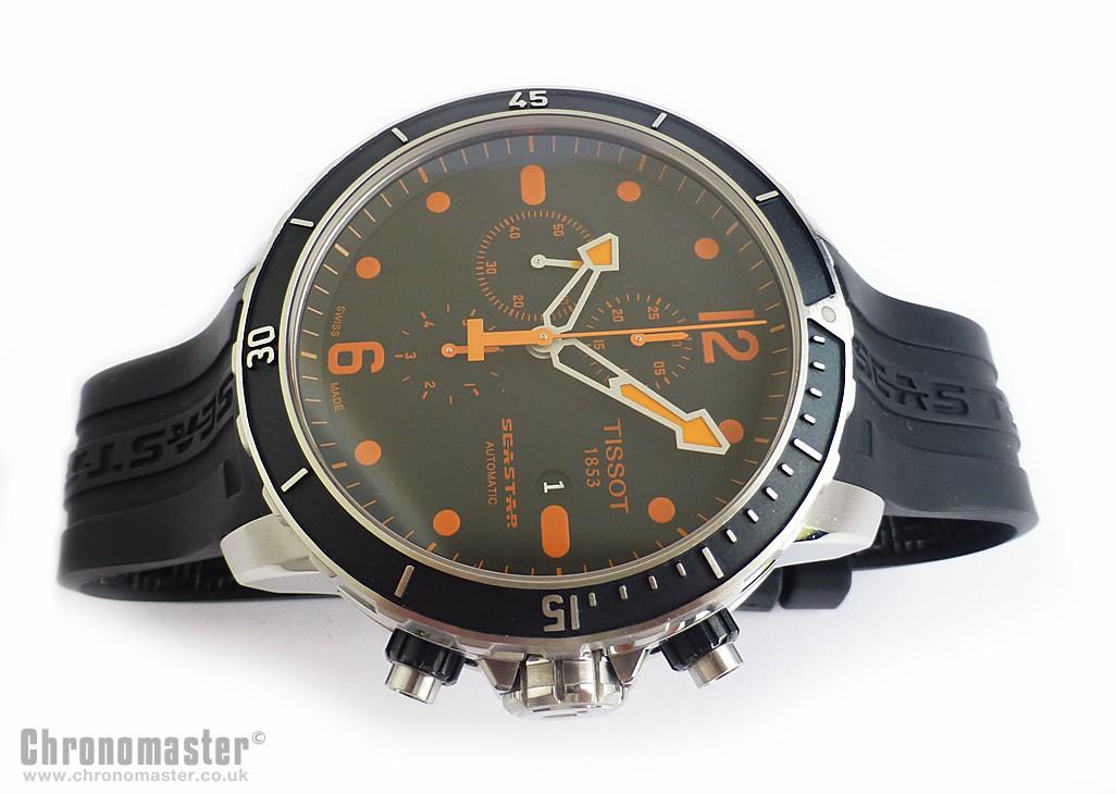 912953e43536 Tissot Seastar 1000 Automatic Chronograph Orange NWW 1335 ...