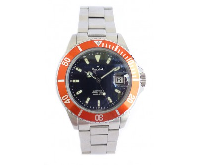 Marcello C Nettuno Automatic Divers Orange Bezel