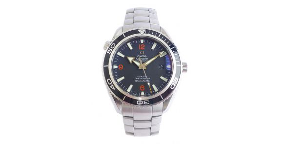 Omega Seamaster Planet Ocean Co-Axial Black Bezel With Spare Orange Bezel - OME 605
