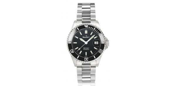 Marcello C Nettuno 3 SW200 Automatic Divers Watch Black Dial Ceramic Bezel - MAT 17