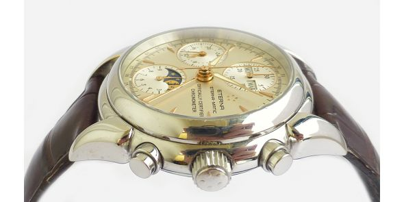 Eterna 1948 Moonphase Calendar Chronograph Certified Chronometer - NWW 1387