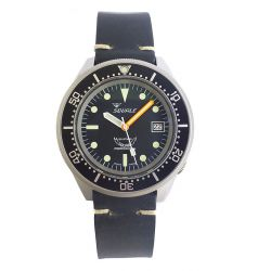 Squale Squale 1521 Automatic Sandblasted Case on Leather Strap SQL 17b