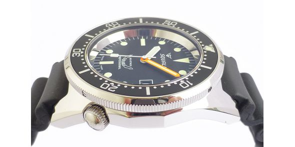 Squale 1521 Automatic Sandblasted Case on Leather Strap - SQL 17b
