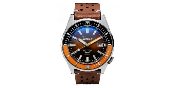Squale Squalematic 60 ATM Brown Dial Polished Finish - SQL 22