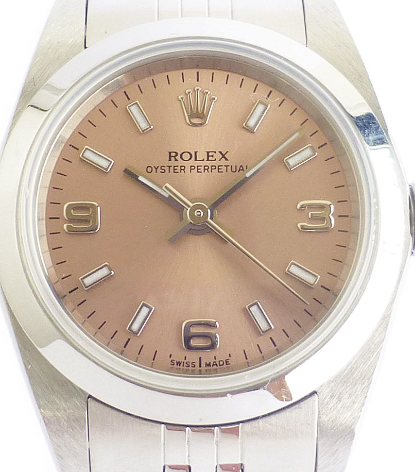92c4f538143 Rolex Oyster Perpetual Ladies - Salmon Dial ROL 686 | Chronomaster UK