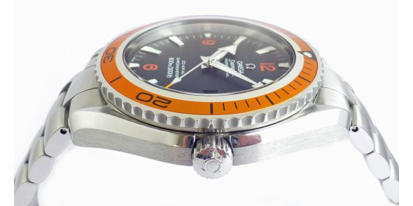 Omega Seamaster Planet Ocean Co-Axial Orange Bezel - Omega Serviced - OME 620