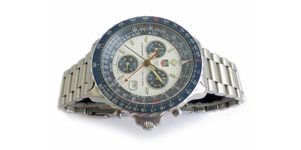 Tag Heuer Pilot Chronograph - Blue/White - HEU 222