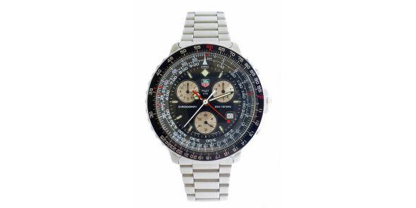 Tag Heuer Pilot Chronograph - Black/White - HEU 223