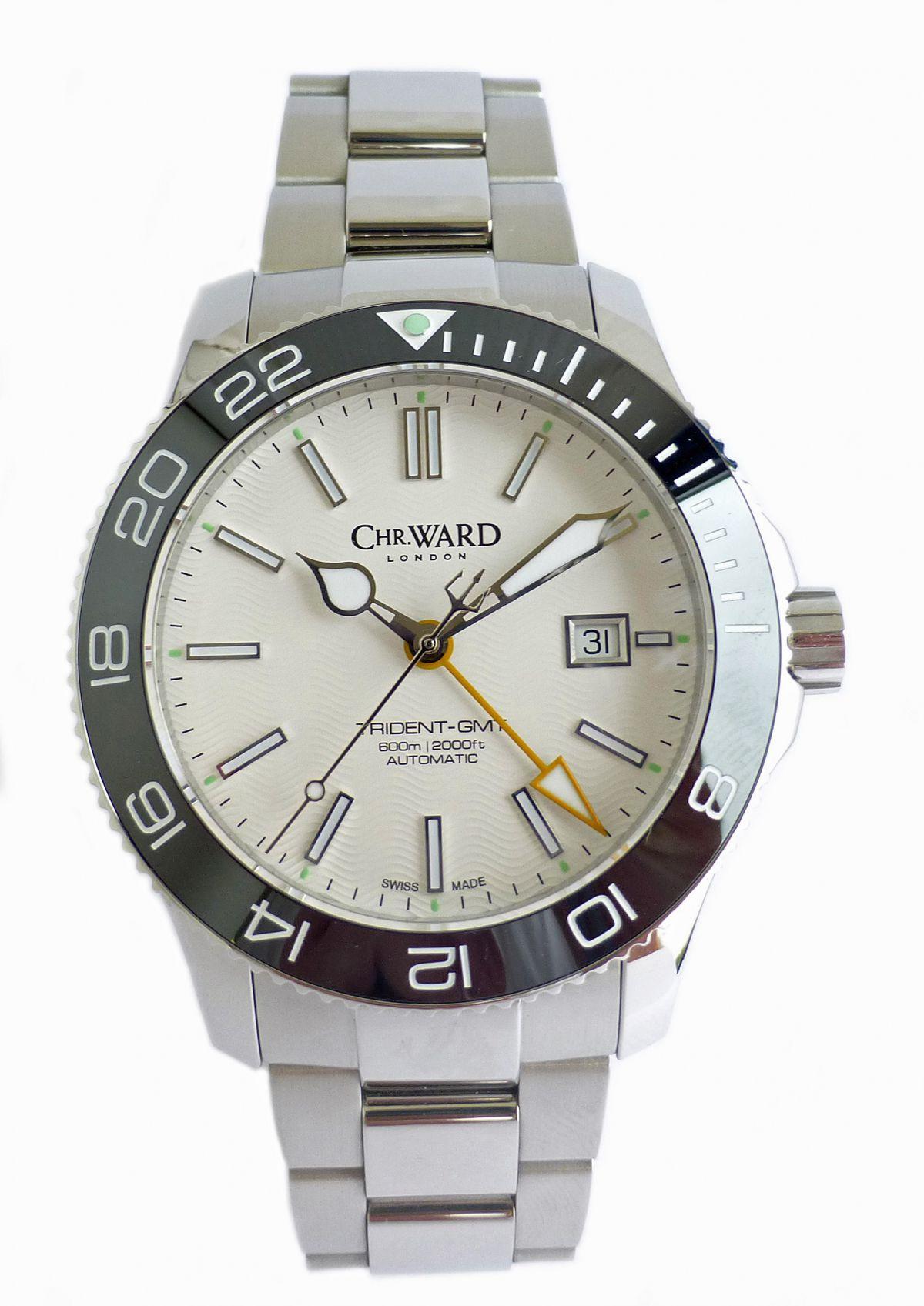 christopher ward trident pro 600 gmt nww 1420 chronomaster uk