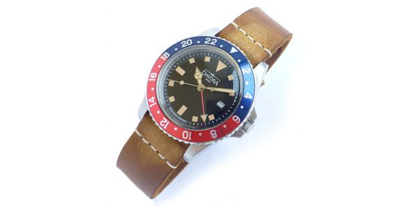 Davosa Vintage Diver - Blue Red - 162.500.95