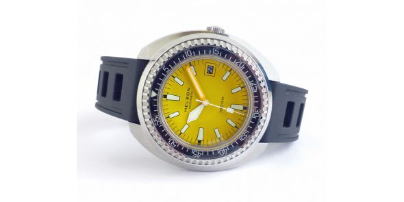 Helson Tutle 1000 Metre Automatic Divers - Yellow - NWW 1458