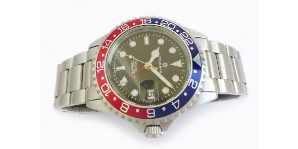 Steinhart GMT Ocean 1 Blue Red Pre Owned. - NWW 1471