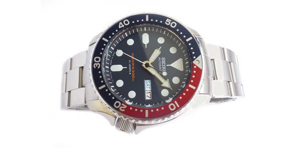 Seiko Automatic Divers Watcomatic Divers Watch 200 Metre SKX 009 - Black Dial - Japan Model - NWW 1486