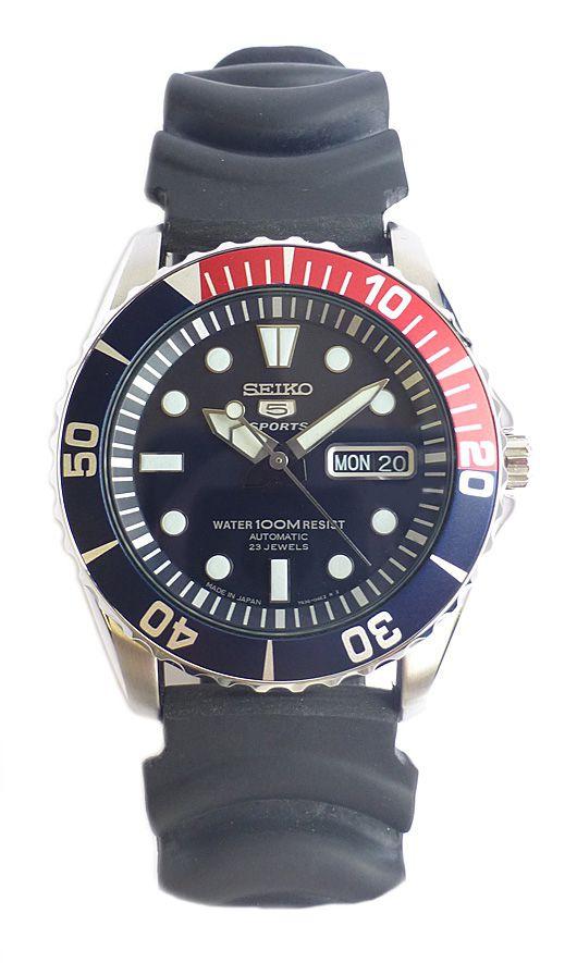 Seiko 5 Sports Automatic Diver Watch Snzf 15j2 Japan Model Nww