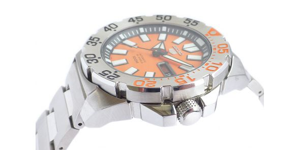 Seiko 5 Sports Automatic Orange Monster Divers Watch - NWW 1488