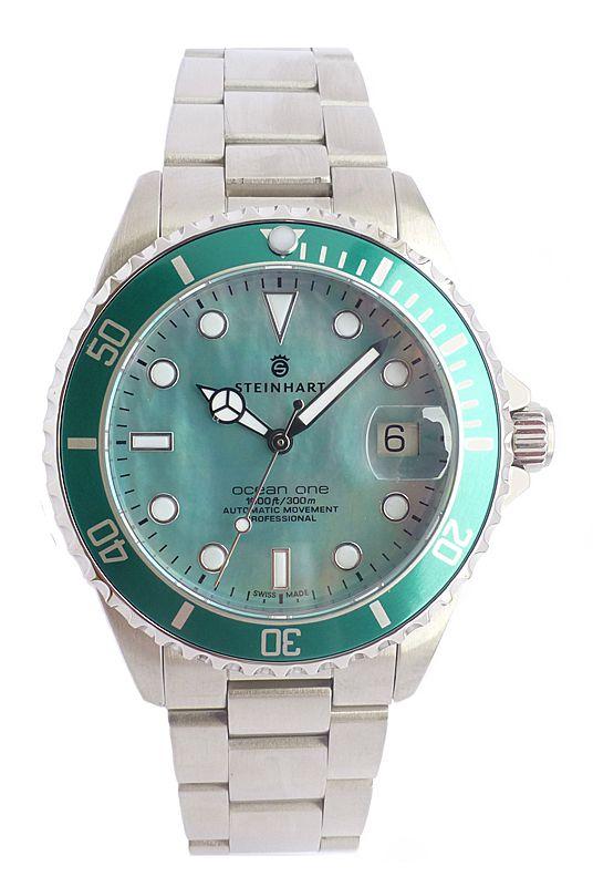 Steinhart Ocean One 39 Green Mother Of Pearl 103 0826