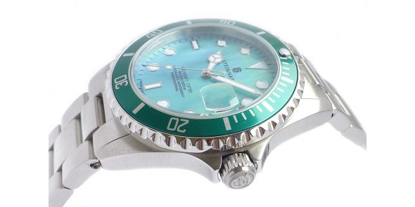 Steinhart Ocean One 39 Green Mother of Pearl - 103-0826