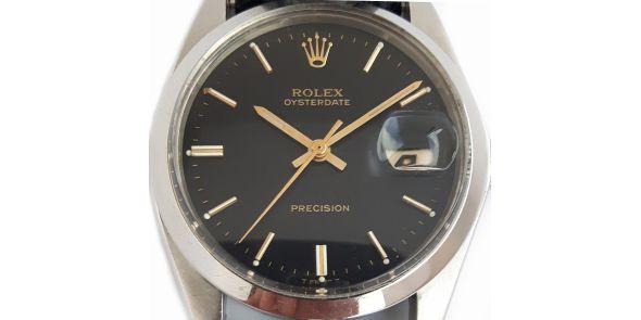 Rolex Oysterdate Precision Black Dial. - ROL 698