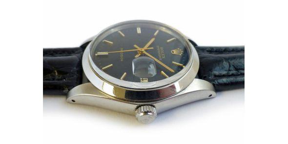 Rolex Oysterdate Precision Black Dial - - NWW 698