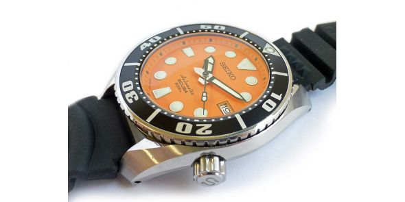Seiko 5 Sports Automatic Orange Divers Watch - NWW 1528