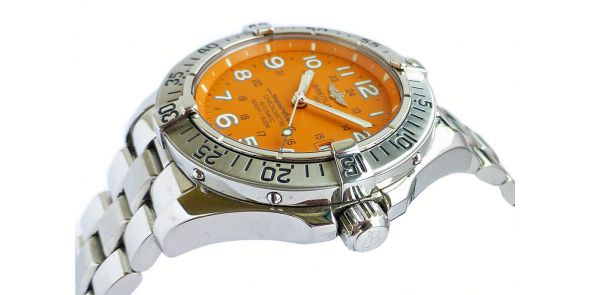 Breitling Super Ocean Automatic 1000m Orange Dial - BRL 217