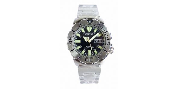 Seiko 5 Sports Automatic Black Monster Divers Watch - NWW 1552