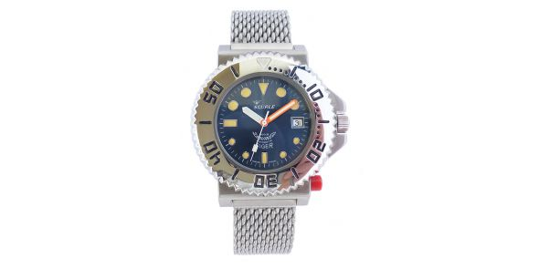 Squale Tiger 300 Metre Professional Divers Watch on Bracelet - SQL 25