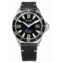 LeJour Vintage Diver Black LJ-VD-002