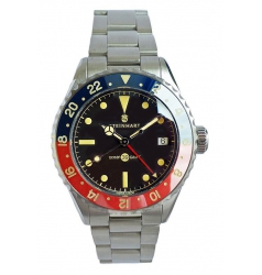 Steinhart Ocean 39 vintage GMT Premium blue/red Ceramic 103-0986
