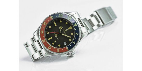 Ocean 39 vintage GMT Premium blue/red Ceramic - 0986