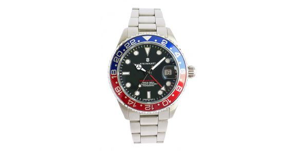 Steinhart GMT Ocean One 39 - Blue-Red pre owned - NWW 1559