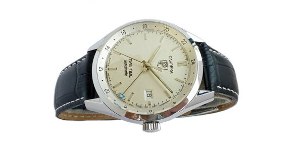 Tag Heuer Carrera Twin Time - Automatic GMT Wristwatch - HEU 221