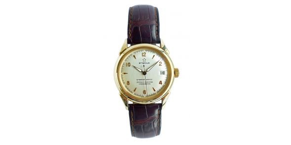 Eterna 1948 Certified Chronometer Silver Dial 18k Gold - NWW 1614