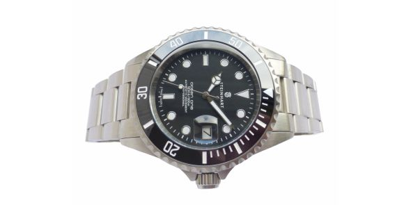 OCEAN 1 BLACK Ceramic - Upgraded Engraved Bezel - 1079