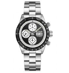 LeJour Le Jour Le Mans Chronograph. Black - White LJ-LM-002