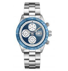 LeJour Le Jour Le Mans Chronograph. Blue-White LJ-LM-003