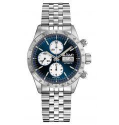 LeJour Le Jour Le Mans Chronograph. Blue Sunray - White LJ-LM-007