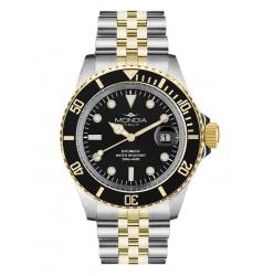 Mondia Mondia Steel-Gold Black on Jubilee Seiko Automatic MI-786-SOBK-BK-GB