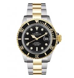 Mondia Mondia Steel-Gold Black on Oyster Seiko Automatic MI-786-SOBK-BK-OY