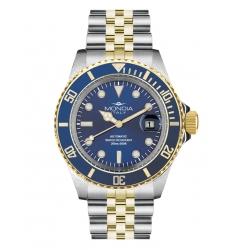 Mondia Mondia Steel-Gold Blue on Jubilee Seiko Automatic MI-786-SOBL-BL-GB