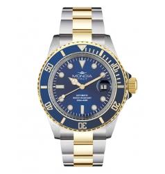 Mondia Steel-Gold Blue on Oyster Seiko Automatic MI-786-SOBL-BL-OY